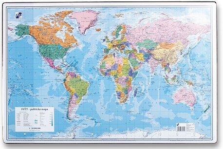 Obrázek produktu Podložka na stůl - mapa světa - 60 x 40 cm