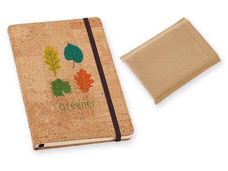 Obrázek produktu Poznámkový zápisník s korkovou vazbou, A5