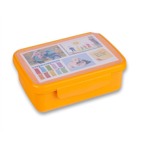 Svačinový box Zdravá sváča oranžový