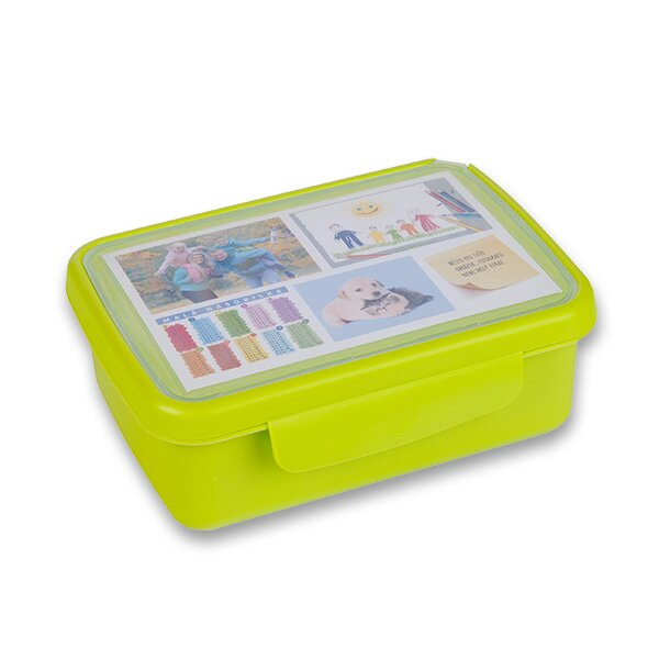 Svačinový box Zdravá sváča zelený