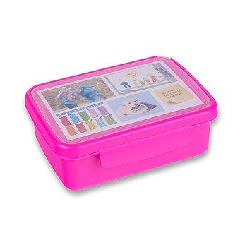 Obrázek produktu Svačinový box Zdravá sváča - fialový fluo