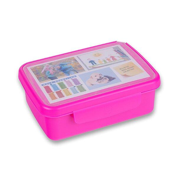 Svačinový box Zdravá sváča fialový fluo