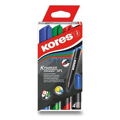 Obrázek produktu Kores - permanentní popisovač - 4 barvy