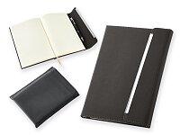 Poznámkový zápisník s pevnou vazbou z imitace kůže