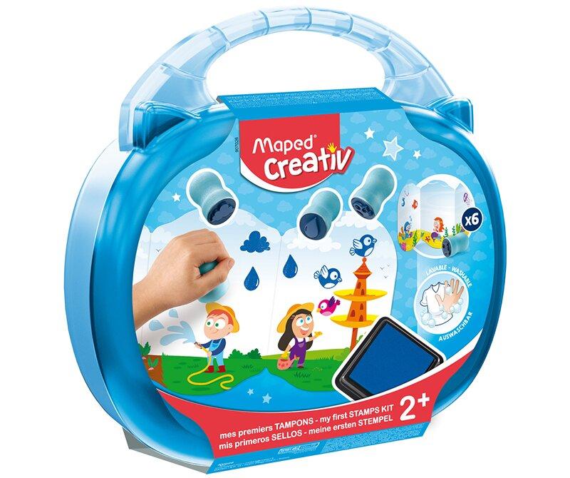 Kreativní kufřík s razítky je vhodný už pro děti od 2 let