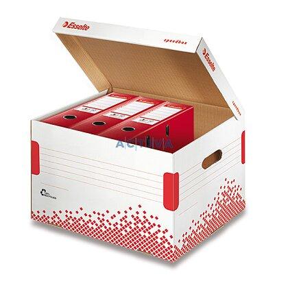 Obrázok produktu Esselte Speedbox - archivačný kontajner s vekom - na 5 šanónov 80 mm, 392 x 301 x 334 mm