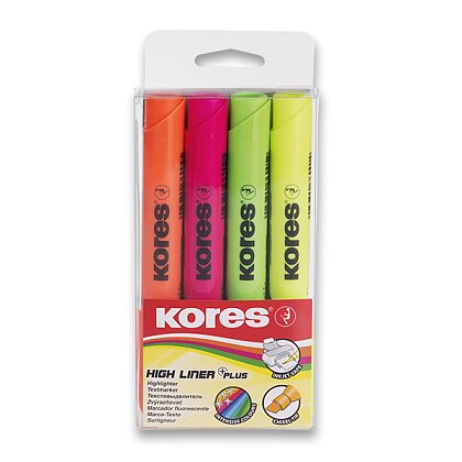 Obrázek produktu Kores High Liner Plus - zvýrazňovač - 4 barvy
