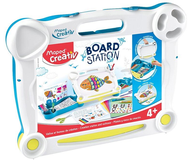 Kufřík s výtvarnými potřebami na cesty