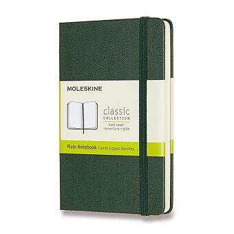 Obrázek produktu Zápisník Moleskine - tvrdé desky - S, čistý, tmavě zelený
