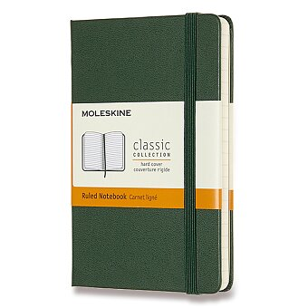 Obrázek produktu Zápisník Moleskine - tvrdé desky - S, linkovaný, tmavě zelený