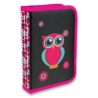 Obrázek produktu Penál Karton P+P Pink Owl - 1patrový, 2 chlopně, bez náplně