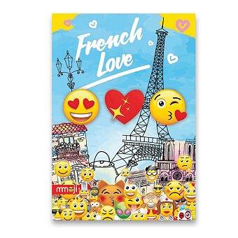 Obrázek produktu Školní sešit Emoji - A5, linkovaný, 40 listů, mix motivů
