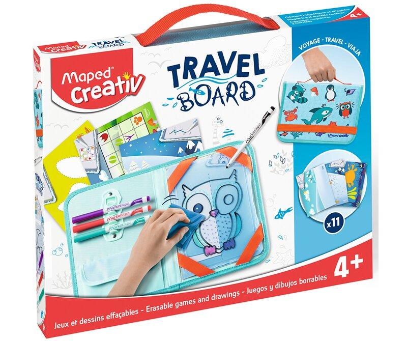 Výtvarný kufřík se zvířátky vhodný pro cestování