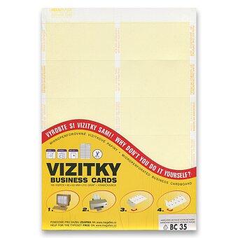 Obrázek produktu Vizitkový karton Trodat - žlutý pruh, 10 ks
