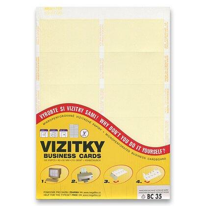 Obrázek produktu Trodat - vizitkový karton - žlutý pruh