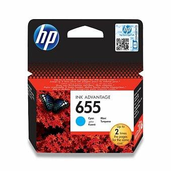 Obrázek produktu Cartridge HP CZ110AE č. 655 pro inkoustové tiskárny - cyan (modrá)