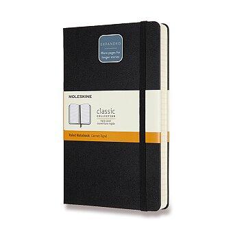 Obrázek produktu Zápisník Moleskine Expanded - tvrdé desky - L, linkovaný, černý