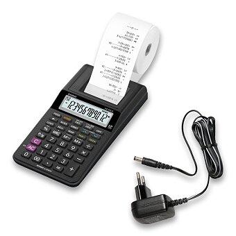 Obrázek produktu Kalkulátor s tiskem Casio HR 8 RCE BK - 12 místný, jednobarevný tisk