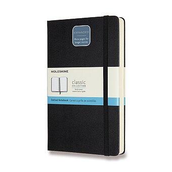 Obrázek produktu Zápisník Moleskine Expanded - tvrdé desky - L, tečkovaný, černý