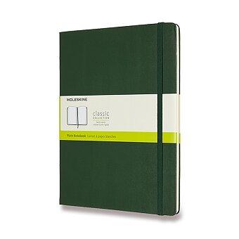 Obrázek produktu Zápisník Moleskine - tvrdé desky - XL, čistý, tmavě zelený