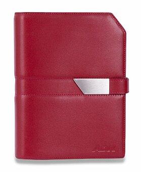 Obrázek produktu Kožený plánovací diář ADK Classic New - A5, červenočerný