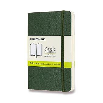 Obrázek produktu Zápisník Moleskine - měkké desky - S, čistý, tmavě zelený
