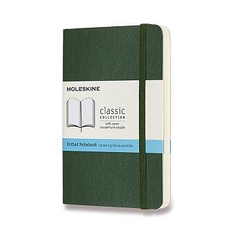 Obrázek produktu Zápisník Moleskine - měkké desky - S, tečkovaný, tmavě zelený