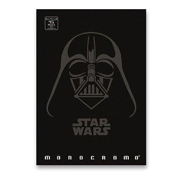Obrázek produktu Školní sešit Pigna Monocromo Star Wars - A4, linkovaný, 40 listů