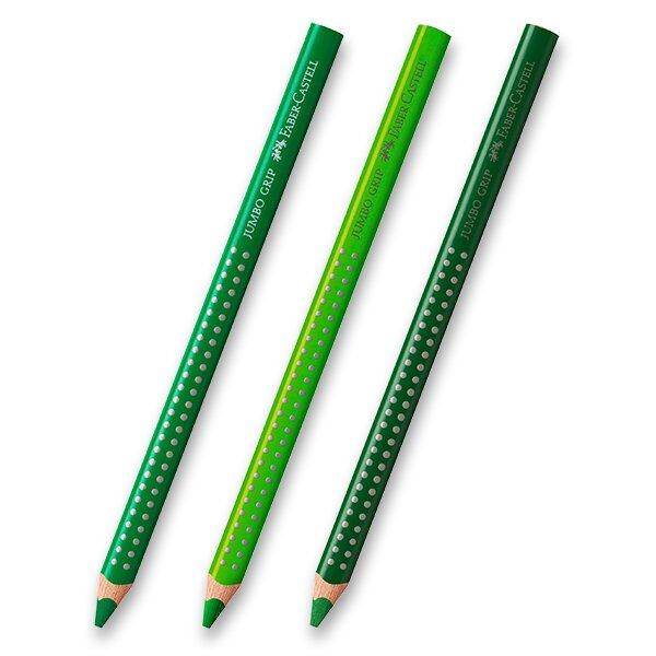 Pastelka Faber-Castell Jumbo Grip - zelené odstíny