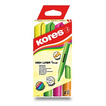 Obrázek produktu Zvýrazňovač Kores High Liner Plus - sada 4 barev
