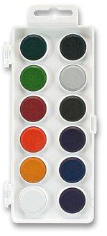 Obrázek produktu Vodové anilinkové barvy Koh-i-noor 174503 - 12 barev, průměr 22 mm