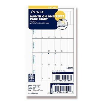 Obrázek produktu Měsíční kalendář 2021, Aj - náplň osobních diářů Filofax