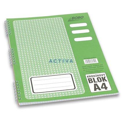 Obrázok produktu Bobo blok - krúžkový blok - A4, 50 l., štvorčekový
