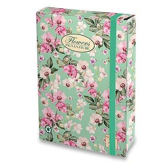 Obrázek produktu Box Pigna Nature Flowers - A4, hřbet 70 mm, mix motivů