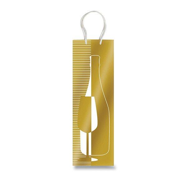 Dárková taška Bottiglia zlatá