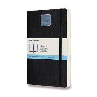 Obrázek produktu Zápisník Moleskine Expanded - měkké desky - L, tečkovaný, černý