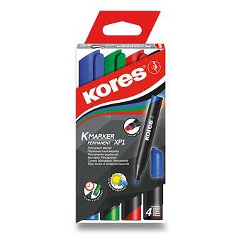 Obrázek produktu Permanentní popisovač Kores K-Marker - sada 4 barev