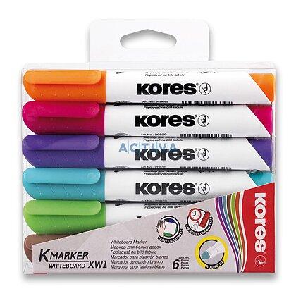 Obrázok produktu Kores Whiteboard - popisovač na biele tabule a flipcharty - sada 6 ks