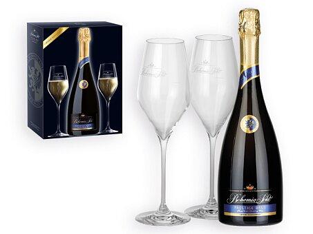 Obrázek produktu Sada sektu o objemu 750 ml se dvěma skleničkami
