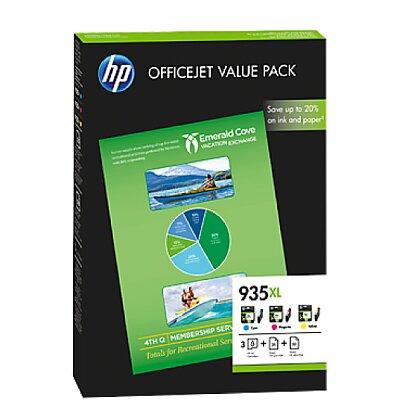 Obrázok produktu Balenie HP 935XL OFFICEJET VALUE PACK F6U78AE, 75 listov/A4/210 x 297 mm