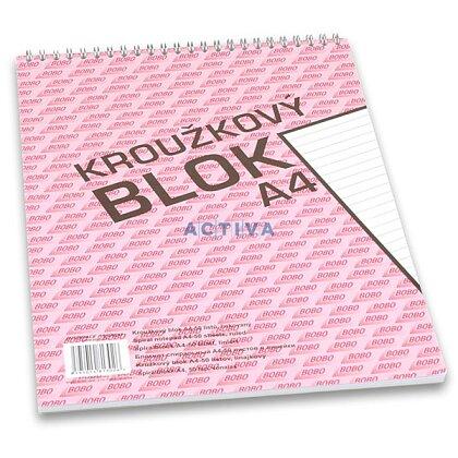Obrázok produktu Bobo blok - krúžkový blok - A4, 50 l., linajkový