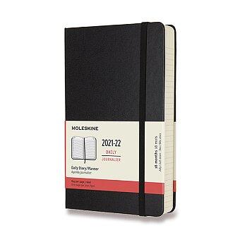 Obrázek produktu 18měsíční diář Moleskine 2021-22 - tvrdé desky - L, denní, černý