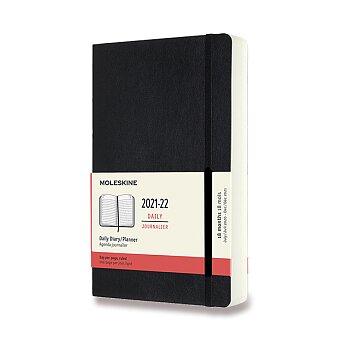 Obrázek produktu 18měsíční diář Moleskine 2021-22 - měkké desky - L, denní, černý