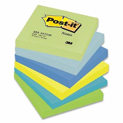 Obrázok produktu 3M Post-it 654 Pastel - samolepiaci bloček - 76 × 76 mm, Mint