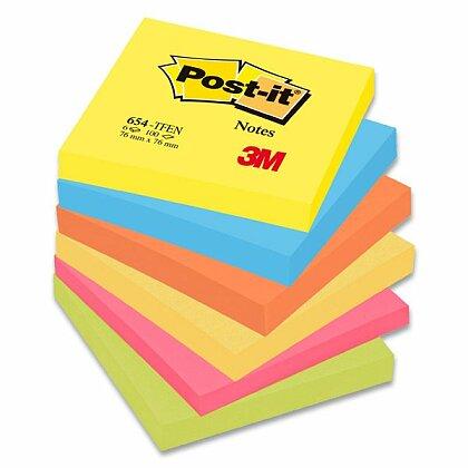 Obrázok produktu 3M Post-it 654 Pastel - samolepiaci bloček - 76 × 76 mm, Tutti Frutti