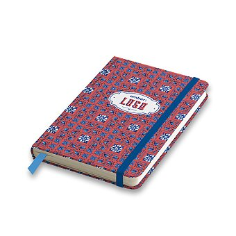 Obrázek produktu Záznamní kniha Ambar Lusa - A5, linkovaná, 80 listů, mix motivů