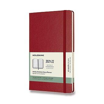 Obrázek produktu 18měsíční diář Moleskine 2021-22 - tvrdé desky - L, týdenní, červený