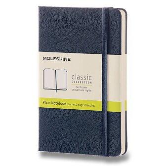 Obrázek produktu Zápisník Moleskine - tvrdé desky - S, čistý, modrý