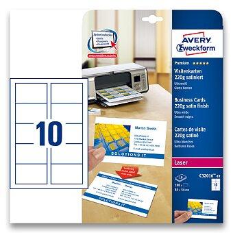 Obrázek produktu Vizitkový karton Avery Zweckform - 220 g, 10 archů, matný natíraný karton
