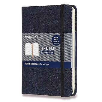 Obrázek produktu Zápisník Moleskine Denim - tvrdé desky - S, linkovaný, tm.modrý
